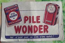 Ancien Publicité Buvard période 1970 Pile Wonder ne s'use que si l'on s'en sert!