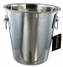 Buckingham Champagne Wine Ice Bucket Bottle Cooler Stainless Steel 21 cm
