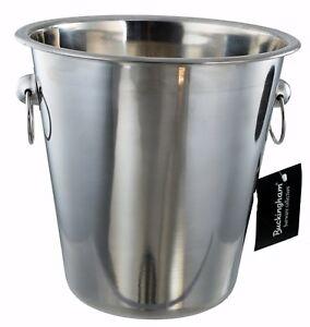 Buckingham Champagne Wine Ice Bucket Bottle Cooler Stainless Steel 21 cm