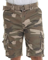 NWT Ecko Unltd. Nate Squad Ace Fort Belted Cargo Carrier Shorts Choose Camo Rd