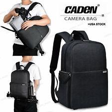 Black SLR Camera Bag Backpack Case For Canon Nikon Sony Leica Panasonic Fujifilm