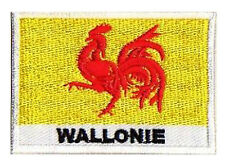 Ecusson patch patche à coudre drapeau WALLONIE Belgique 70 x 45 mm