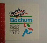 Aufkleber/Sticker: Deutsches Turnfest Bochum 1990 (07081635)
