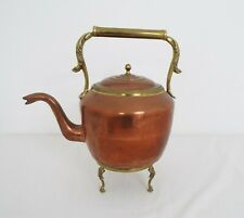 Large Vintage copper Kettle - With brass stand & Handle