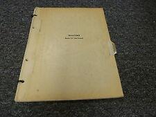 John Deere Model D Standard Tractor Not Styled Parts Catalog Manual PC347