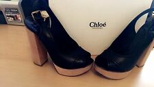 Chloe Block Heel Sling back Shoes