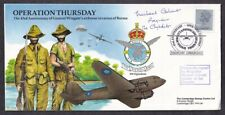 Great Britain #Mh97 Operation Thursday Burma Invasion Cover #34 Signed/Text 1987