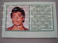 SCARFACE MOVIE - Tony Montana Green Card ( Screen Accurate )