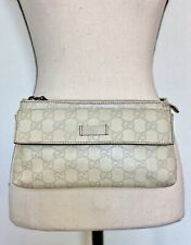 GUCCI Leather Guccissima Crossbody Belt Bag Beige / F170