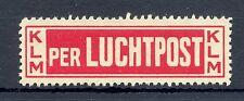 NEDERLAND  KLM  1920  AIRMAIL LABEL  **   VF   @1