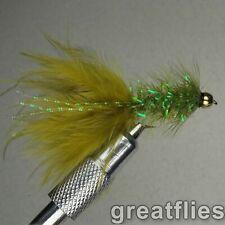 1 dozen (12) - Crystal Bugger - OLIVE - Bead Head