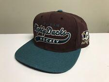 Vintage Anaheim Mighty Ducks Starter Script Snapback Hat Cap Nhl Disney Arch