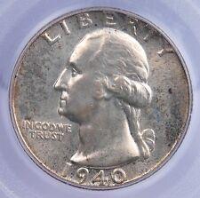 1940 P WASHINGTON QUARTER PCGS MS 66 ORIGINAL, LUSTROUS, AND QUITE MARK FREE
