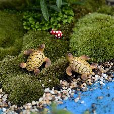 1pc Miniature Dollhouse Bonsai Fairy Garden Landscape Sea Turtle Decor ^G
