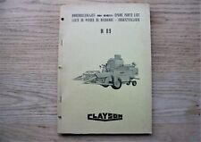 CLAYSON M89 SPARE PARTS LIST NR 6611 1966 - NEW HOLLAND COMBINE HARVESTER