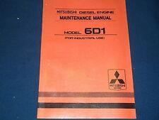 MITSUBISHI 6D1 INDUSTRIAL ENGINE MAINTENANCE BOOK MANUAL