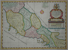 A New Map of Latium Etruria - Edward Wells 1700 - Römisches Reich -Mittelitalien