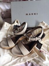 Marni Cream Platform Sandals Size 39 Uk 6