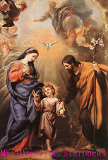 "Art Repro Oil painting:""Holy Family Madonna & child and angel"" 24x36 Inch"