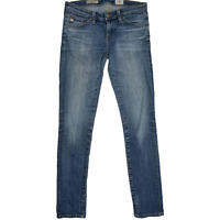 AG Adriano Goldschmied Women The Stilt Cigarette Leg Skinny Denim Size 25 Blue