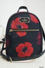 KATE SPADE POPPY BLACK RED LEATHER TRIM HANDBAG SHOULDER BACKPACK BAG