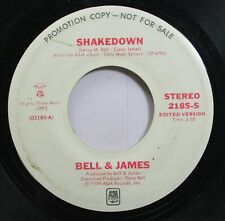 Soul Promo 45 Bell & James - Shakedown / Shakedown On A&M Records