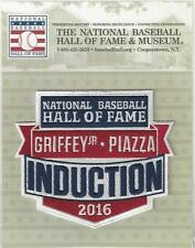 2016 Baseball MLB Hall of Fame Induction Patch Griffey Jr Piazza Official Logo