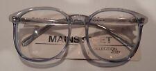 Vintage Mainstreet Jenny Lt. Blue 56/21 P3 Round Eyeglass Frame NOS #260