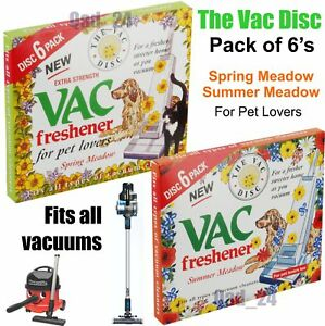 Vac Disc Hoover Vacuum Cleaner Air Freshener Smell For Pet Lover Home Office