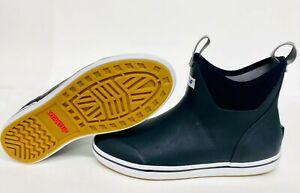 "Men's 22736 Xtratuf 6"" Full Rubber Ankle Deck Boot Black Fishing Boots xtratuff"