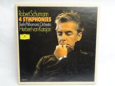 """Herbert von KARAJAN Robert Schumann -4 Symphonies  Grammophon 2832 004  """"IMPORT"""""""