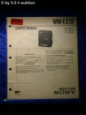Sony Service Manual WM EX19 Cassette Player (#2133)