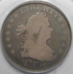 = 1806 PCGS G6 BUST Quarter, HERALDIC EAGLE Reverse, FREE Shipping