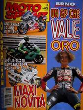 Motosprint 35 1997 Brno: oro per Rossi. Aprilia RS 250, Kawasaki ZX 9R, Honda