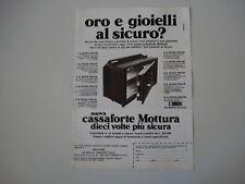 advertising Pubblicità 1981 CASSAFORTE MOTTURA