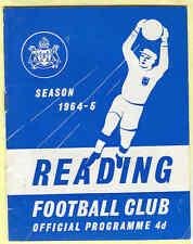 Reading v Exeter City Div 3 1964 - Football Programme