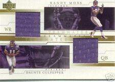 01 RANDY MOSS DAUNTE CULPEPPER DUAL JERSEY UPPER DECK
