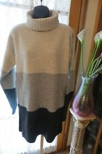 VINTAGE  ~ MEREDITH ~ Block Colours Tunic JUMPER * Size M/L *