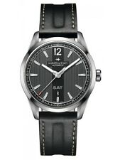 NEW HAMILTON BROADWAY 42MM STAINLESS STEEL DAY-DATE BLACK DIAL H43515735