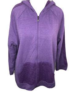 NWT Catherines 2X Soft Purple Full Zip Hoodie Jacket Pockets Lace Trim Plus Size