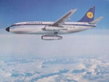 Lufthansa Boeing B 737-200 City Jet Jet Aircraft German Airlines Postcard