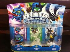 *Very Rare* Skylanders Crystal Clear Stealth Elf Variant 3-Pack - VHTF