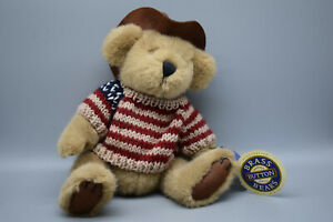 "The Brass Button Collection ""Cody"" Bear with Hat & Sweater- 9"" Tall-Preowned"