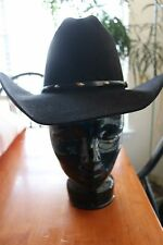 Resistol Cowboy Hat Black 3X Beaver Size 6 7/8 EUC