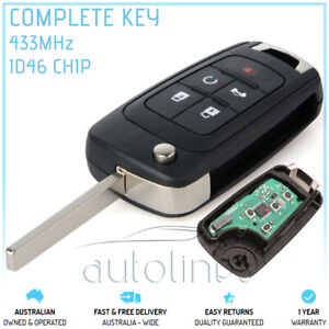 Fits HOLDEN COMMODORE VF 2013-2017 FOB 5 Button Remote Complete Key Transponder
