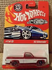 HOT WHEELS MODERN CLASSICS '83 SILVERADO 7/15 RED *NU*