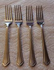 International Silver Stainless Flatware Capri Frost Set of Four Dinner Forks