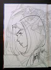 J Scott Campbell ABBEY CHASE Original Sketch Art TIME CAPSULE Signed Danger SDCC