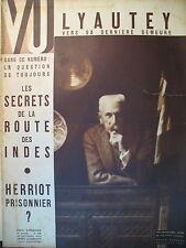 MAGAZINE VU 398 REPORTAGES PHOTOS LYAUTEY SECRET DE LA ROUTE DES INDES 1935
