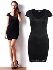 Lace V Neck Stretch, Bodycon Regular Size Dresses for Women